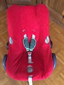 Sommerbezug Schonbezug Frottee für Maxi-cosi Cabriofix NEU rot