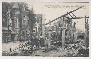 Bruxelles Exhibition 1910 postcard - l'Incendie 1910, Vers la rue de l'Escalier