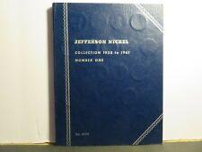 1938 - 1961 Jefferson Nickel Complete Collection in Whitman Blue Book. Original!