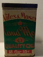 Vintage Niles & Moser Hand Made Cigar Tin