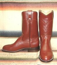 Womens Pecos Bill Brown Leather Roper QUALITY Cowboy Boots 4.5 B NEW In Box