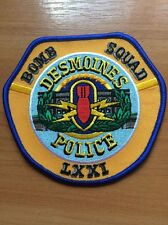 PATCH POLICE DESMOINES  BOMB SQUAD ( LXXI ) IOWA IA STATE