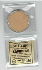 Lou Gehrig Highland Mint Game Used Bat Sawdust Limited Edition 1 of 500