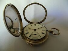 English Silver Pocket Hunter Watch, Manual Movement, very rare, Excellent, Mint