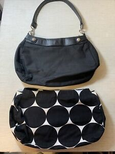 Thirty One Suite Skirt Purse in Black + Polka Dot Skirt