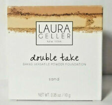 New Laura Geller Double Take Baked Versatile Powder Foundation Sand .35oz