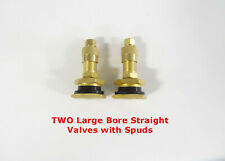 Two Large Bore Straight Tire Valves With Spuds Otr Road Grader Dirt Scraper Ag