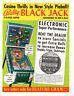 BLACKJACK Original SS PROMO Pinball Machine Flyer 1977 BALLY Brochure Ad Slick