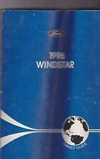 1996 vintage original car owners manual - FORD WINDSTAR