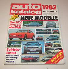 Autokatalog Nr. 25 - Modelljahr 1982!
