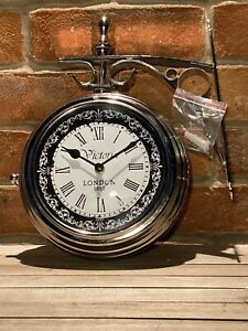 Victoria Station Clock Double Sided Railway Functional Clock Home Decor London