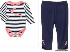 NEW GYMBOREE Girls  SPRING SUMMER Outfit Blooms And  Boats 18-24 MONTHS