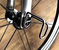 TITANIUM E Hook For BROMPTON Lightweight BLACK