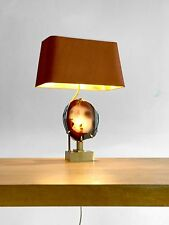 1970 WILLY DARO LAMPE SCULPTURE ART-DECO MODERNISTE SHABBY-CHIC AGATHE BRONZE