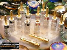 ♫ 6 PAIRES FICHES BANANES NAKAMICHI GOLD ENCEINTES VINTAGE ♫