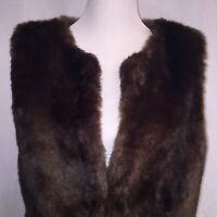 Anthropologie Sanctuary Clothing Couture Faux Fur Vest Women's Size M