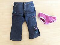 American Girl Doll Embroidered Floral Jeans Underwear Clothing Accessories Lot 2