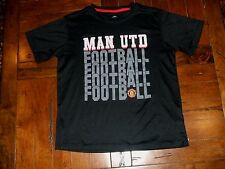 Manchester United MAN UTD Football Youth XL Black 100% Polyester Shirt Soccer
