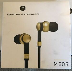 Master & Dynamic ME05 In Ear Wired Headphones Brass