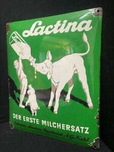 Lactina  - der erste Milchersatz - Emailschild 40 x 32 cm
