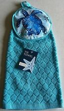 "Coastal Tie Towel 15"" x 17""  100% Cotton  SEA TURTLE"