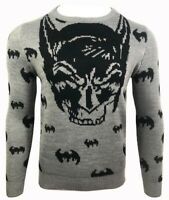 Mens Sweatshirt Batman Sweater Jumper Pullover V Neck Long Sleeve Top Knitwear