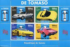 Guinea 1998 MNH De Tomaso Mangusta Guara Pantera GTS 4v M/S Cars Stamps