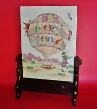 People devil on Balloon Weighted by VANITY Chinese Export Porcelain Table Screen