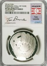 2014-P $1 Tom Lasorda Baseball Hall of Fame NGC (Proof)PF-69 UC Early Releases