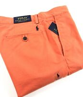 Polo Ralph Lauren Chinos Men's Stretch Slim Fit College Orange Bedford Pants
