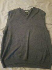 Pronto Uomo Dark Gray Mens size 2X 100% Extra Fine Merino Wool Sweater Vest