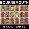 PANINI ADRENALYN Premier League 2019/20 BOURNEMOUTH 18 Card Full Team Set 19/20