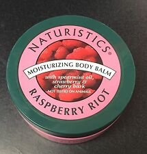 Lot of 12 Naturistics Raspberry Riot Moisturizing Body Balm 6.0 oz / 1.70 g