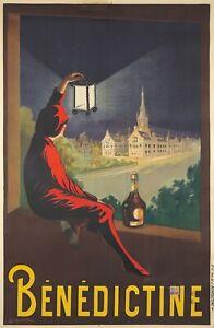 Original Vintage Poster Cappiello Benedictine Liquor Cordial 1907 French