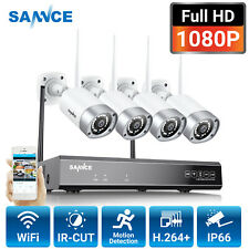 SANNCE Wireless Home Security 1080P System Metal CCTV Camera 8CH H.264+ NVR Kit