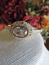 Tone Bangle Bracelet Nwot Gorgeous Crystal & Enamel Gold