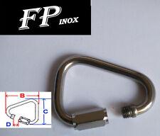 Mousqueton Delta Fil 6mm inox 316