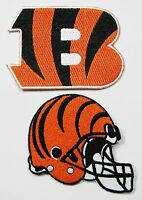 LOT OF (2) NEW NFL CINCINNATI BENGALS  EMBROIDERED PATCHES (TYPE A) ITEM # 06