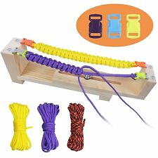 Jig Bracelet Maker Parachute Cord Wristband Maker Paracord Braiding Weaving DIY