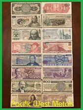 Lot Of 8 Mexico Peso Banknotes Series 151020501005001000 Bdm Mexico Bills