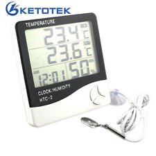 Digital LCD Temperature Humidity Room Thermometer Clock Weather Stations Sensor