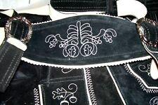 US Sz 28.Germany,Trachten,Lederhosen w.Suspenders.Oktoberfest,Wiesn.Black.Longer
