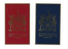 WORSHIPFUL1990 PLAYING CARDS  2x  SINGLE CARDS SPECIAL PRINT  COAT OF ARMS #17
