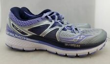 Saucony Triumph ISO Running Shoes Lavender/Gray Women's US 7 EUR 38 (F2,9)