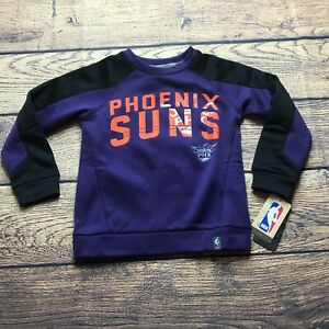 NBA Kids Boys Medium 5/6 Phoenix Suns Tek Warm Pullover Sweatshirt NEW