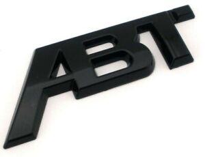 ABT GLOSS Black Rear Tailgate Boot Badge SPORTS LINE VW AUDI SKODA SEAT