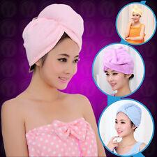 Mikrofaser trocknendes Handtuch Haar eingewickelt Turban-Hut-Kappen-Tuch