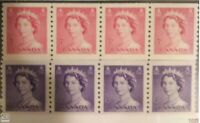 Canada 332-333 VF MNH coil strip of 4, QEII Karsh issue CV $26