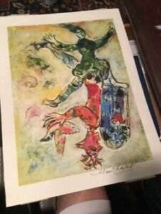 Marc Chagall hand signed framed lithograph