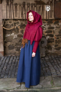 Medieval Padded Cotton - Wine Red Cloak Cap Color Ladies cloak medieval SCA LARP